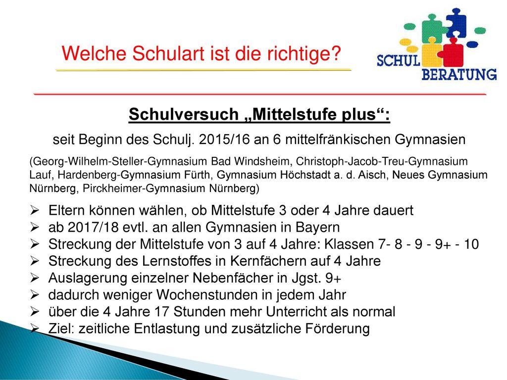 """Schulversuch """"Mittelstufe plus :"""