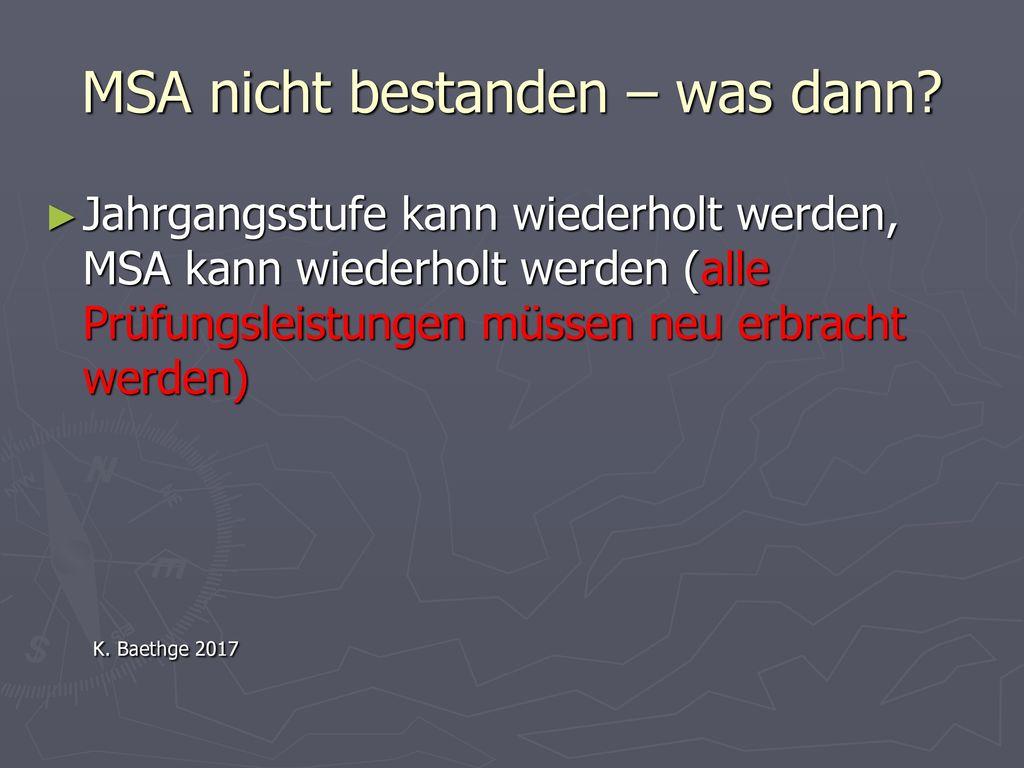 MSA nicht bestanden – was dann