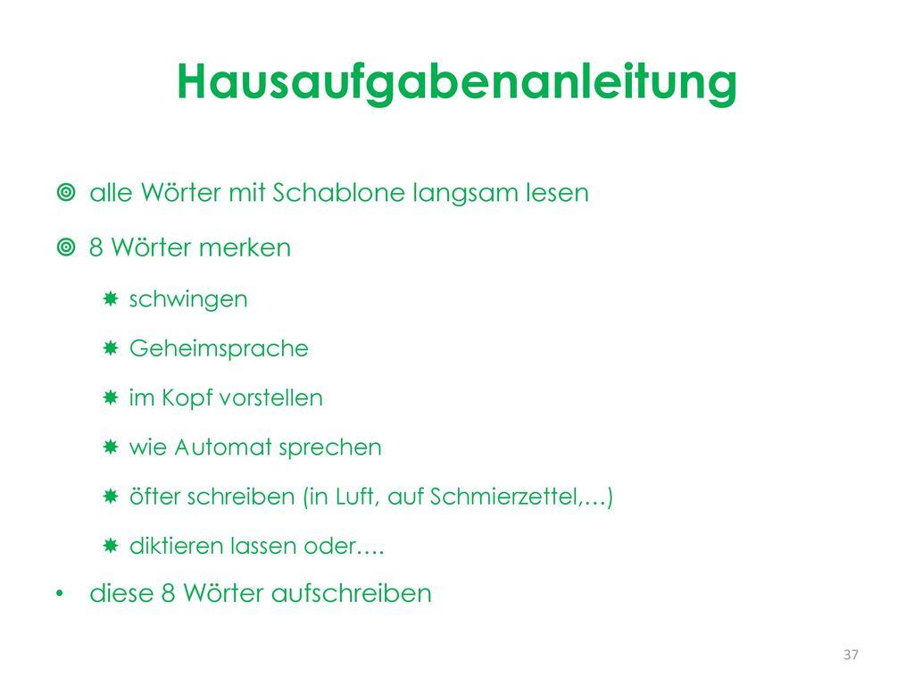 Rechtschreibtraining in der Grundschule Montag, 13. März Uhr - ppt ...