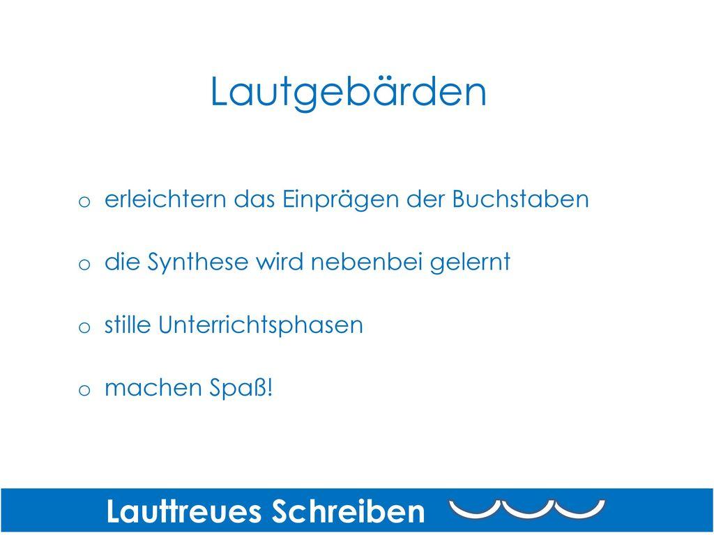 Lautgebärden Lauttreues Schreiben
