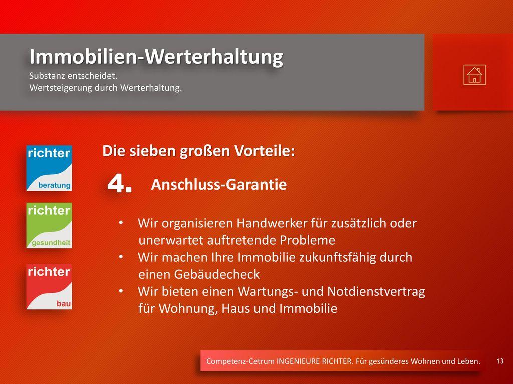 4. Die sieben großen Vorteile: Anschluss-Garantie