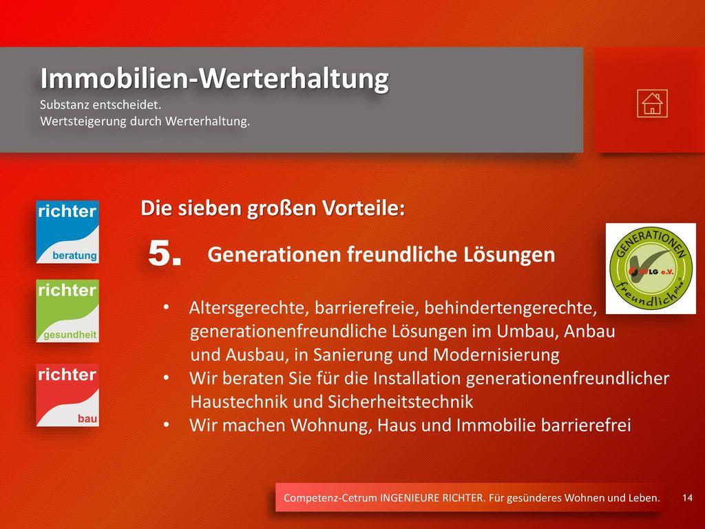 5. Die sieben großen Vorteile: Generationen freundliche Lösungen