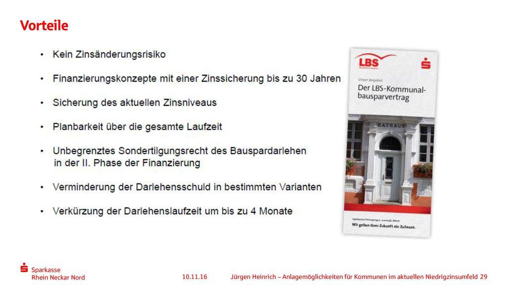 Vorteile 10.11.16 Jürgen Heinrich – Anlagemöglichkeiten für Kommunen im aktuellen Niedrigzinsumfeld