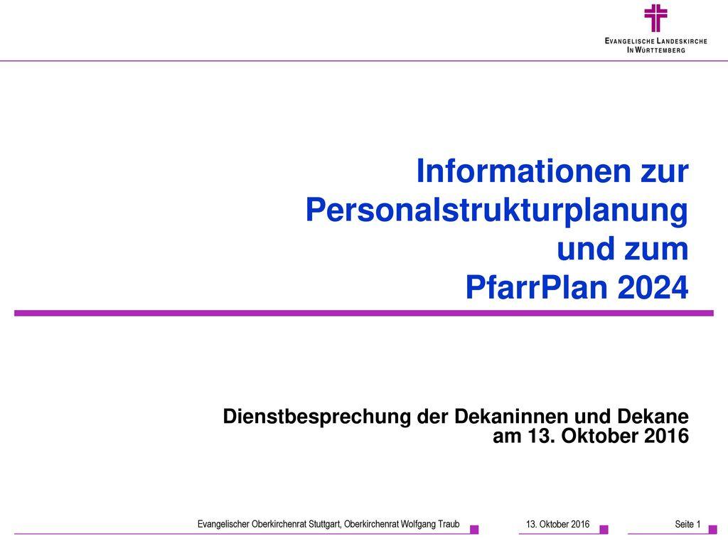 Informationen zur Personalstrukturplanung und zum PfarrPlan 2024