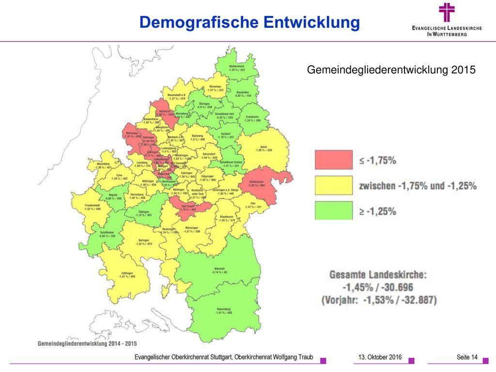 Gemeindegliederentwicklung 2015
