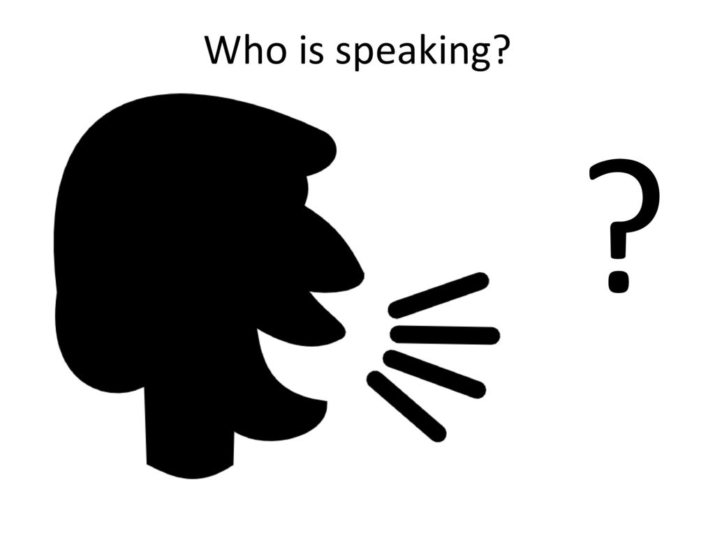 Who is speaking