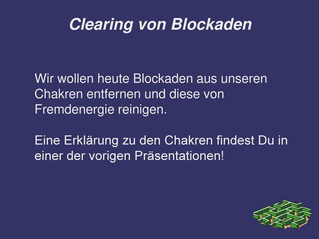 Clearing von Blockaden