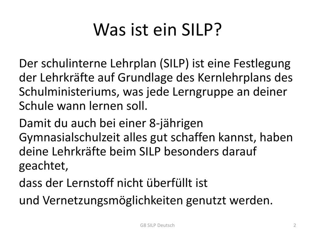 Was ist ein SILP