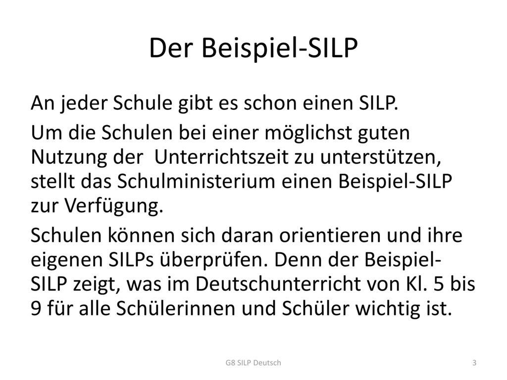 Der Beispiel-SILP