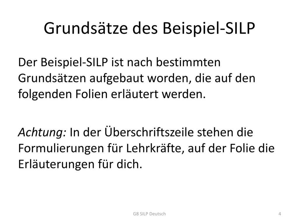 Grundsätze des Beispiel-SILP