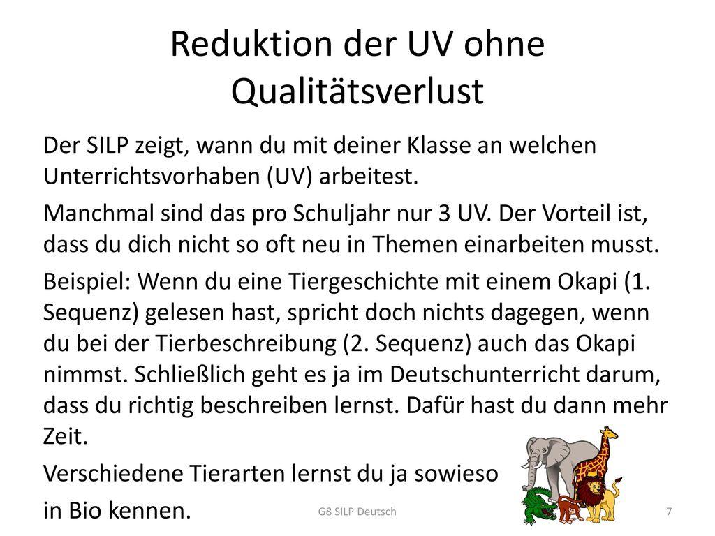 Reduktion der UV ohne Qualitätsverlust