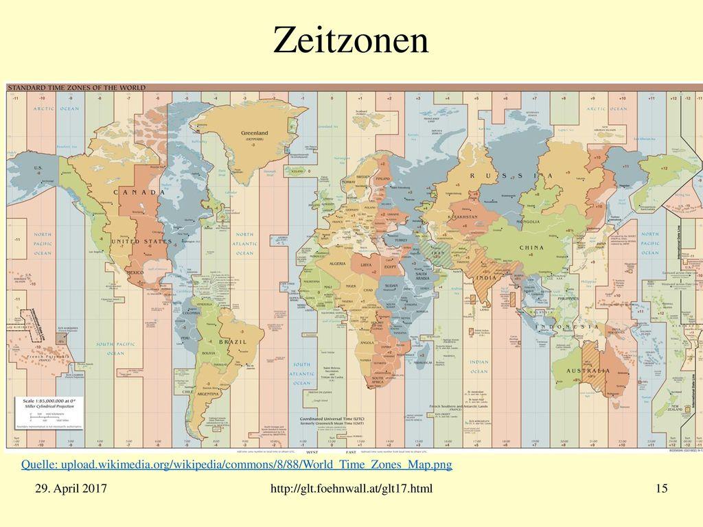 UTC - Weltzeit Problem: Die Atomzeit TAI läuft der astronomischen Universalzeit UT1 allmählich voraus: 1.Jan. 1958 .. 1. Jan. 2017: 37 Sekunden.