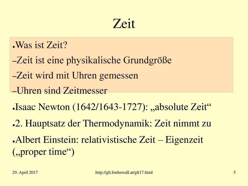 Z E I T 29. April 2017 http://glt.foehnwall.at/glt17.html