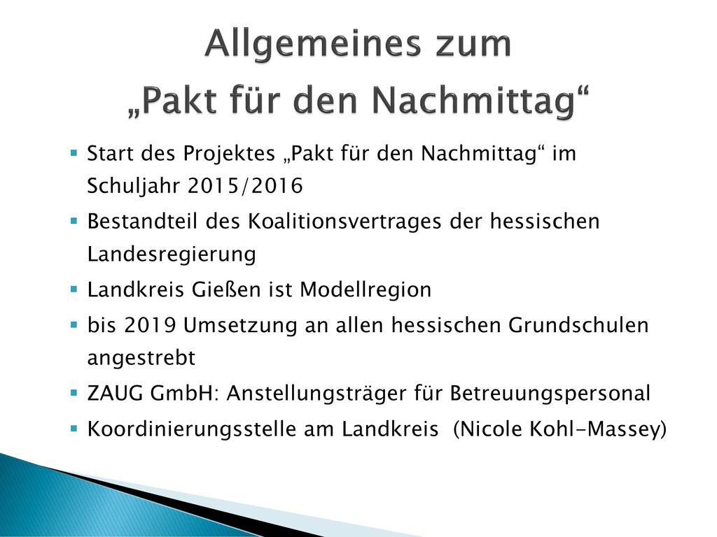 """Allgemeines zum """"Pakt für den Nachmittag"""