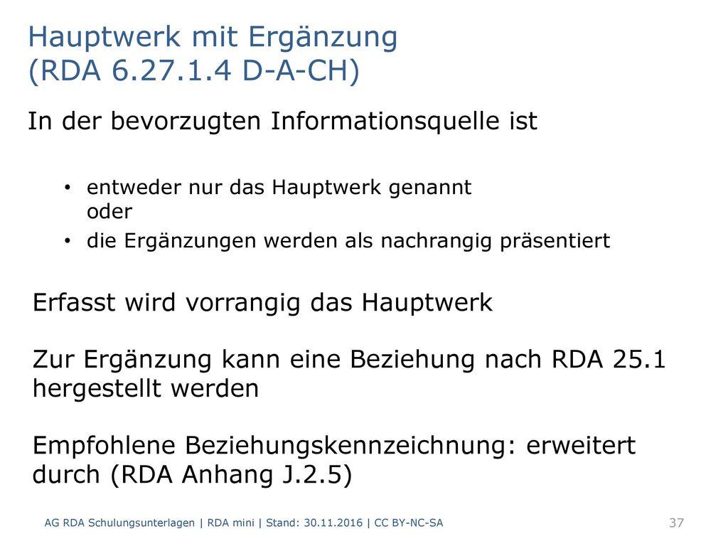 Hauptwerk mit Ergänzung (RDA 6.27.1.4 D-A-CH)