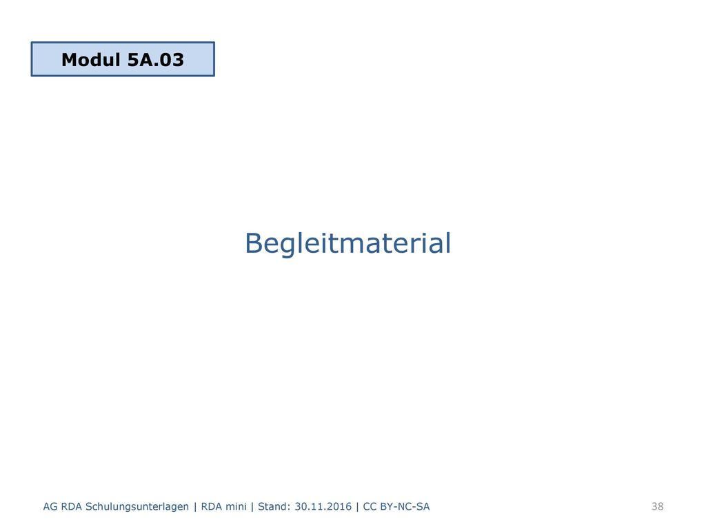 Begleitmaterial Modul 5A.03