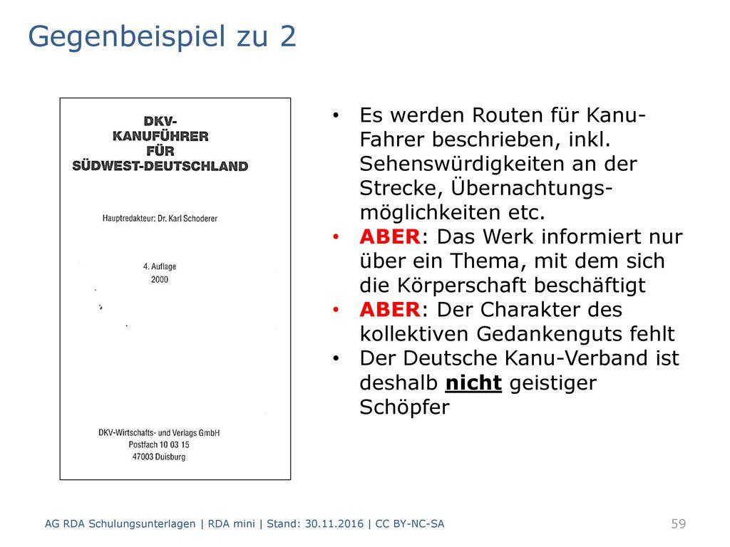 Gegenbeispiel zu 2 Es werden Routen für Kanu-Fahrer beschrieben, inkl. Sehenswürdigkeiten an der Strecke, Übernachtungs-möglichkeiten etc.