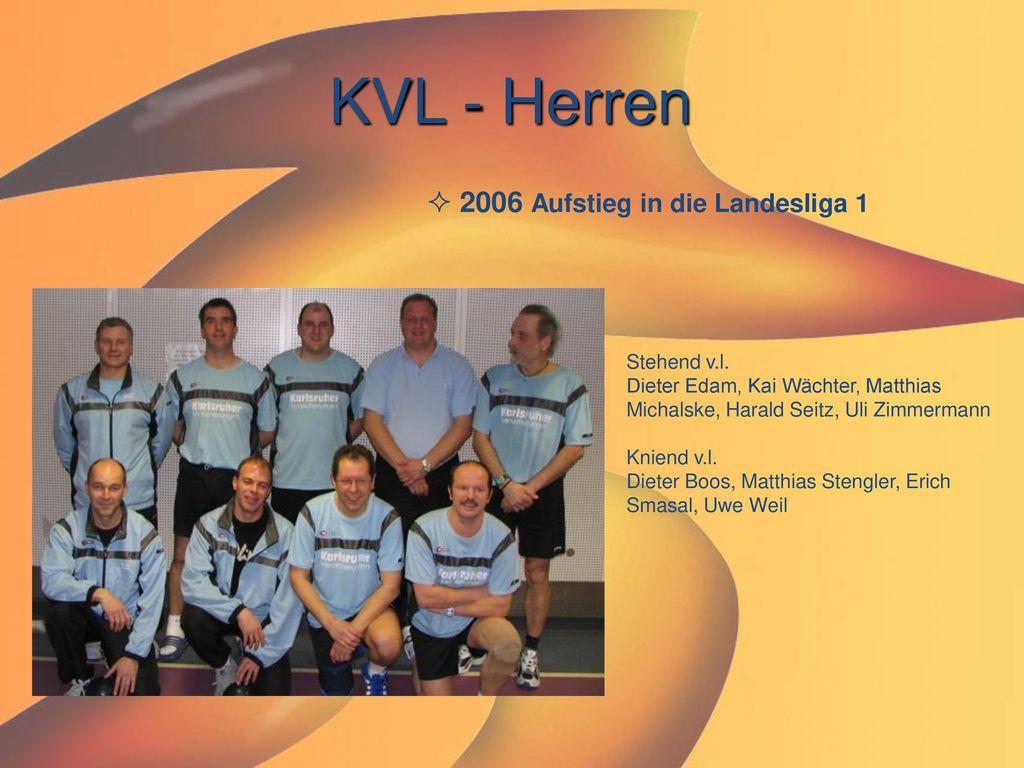 KVL - Herren 2006 Aufstieg in die Landesliga 1 Stehend v.l.
