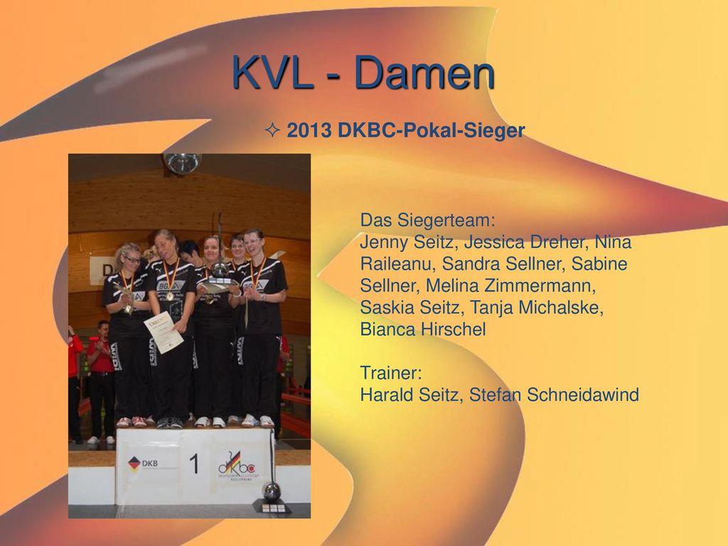KVL - Damen 2013 DKBC-Pokal-Sieger Das Siegerteam: