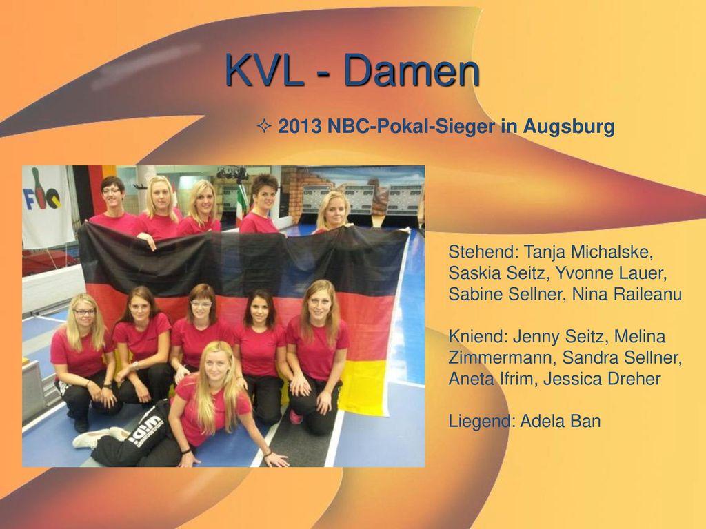 KVL - Damen 2013 NBC-Pokal-Sieger in Augsburg