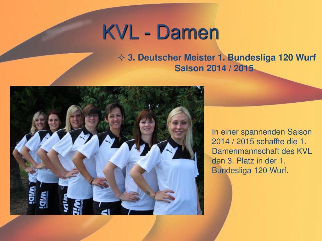 3. Deutscher Meister 1. Bundesliga 120 Wurf