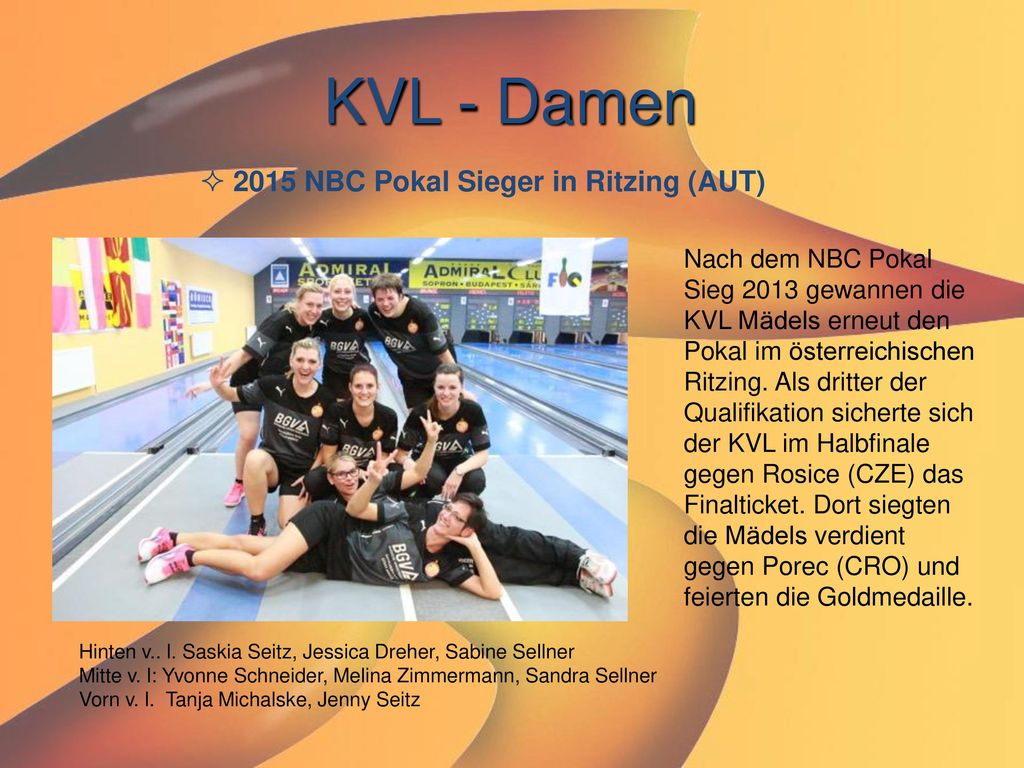 KVL - Damen 2015 NBC Pokal Sieger in Ritzing (AUT)