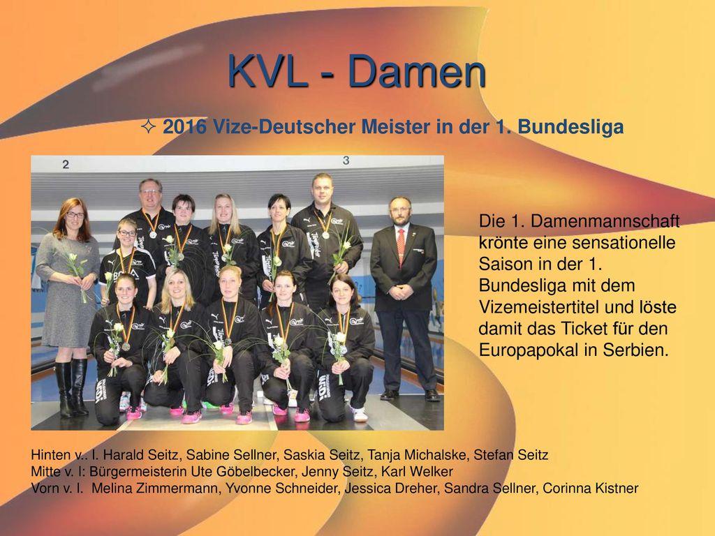 KVL - Damen 2016 Vize-Deutscher Meister in der 1. Bundesliga