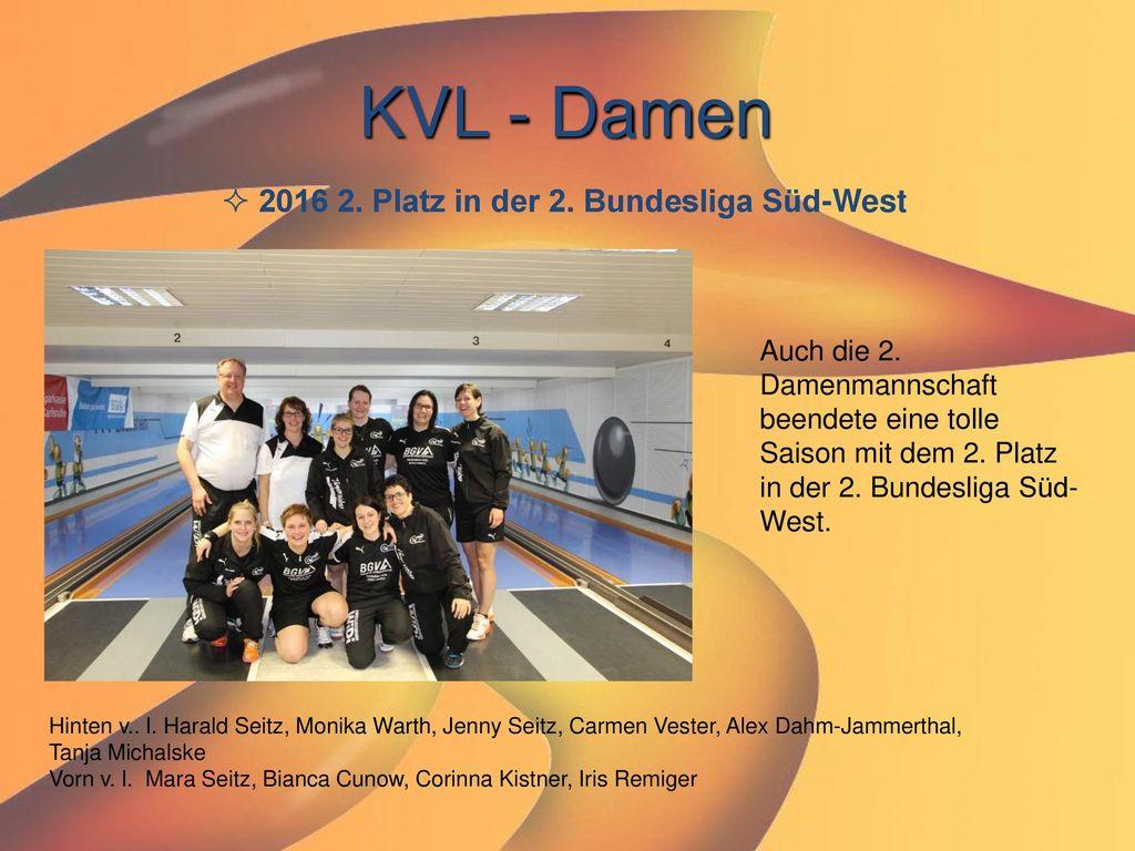 KVL - Damen 2016 2. Platz in der 2. Bundesliga Süd-West