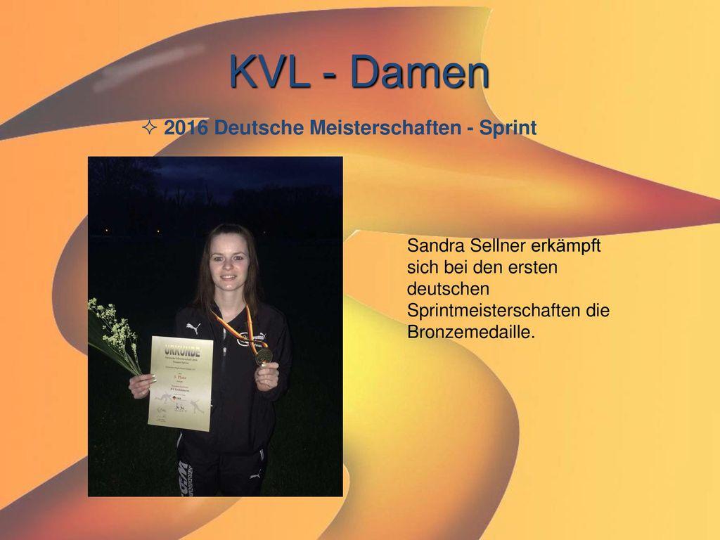 KVL - Damen 2016 Deutsche Meisterschaften - Sprint