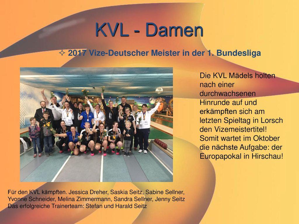 KVL - Damen 2017 Vize-Deutscher Meister in der 1. Bundesliga