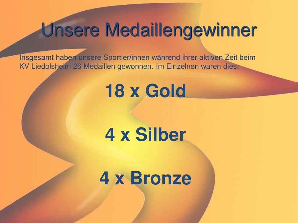 Unsere Medaillengewinner