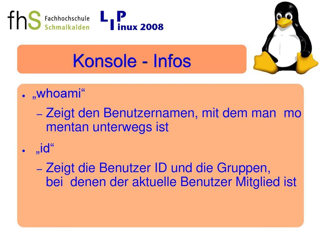 "Konsole - Infos ""whoami"