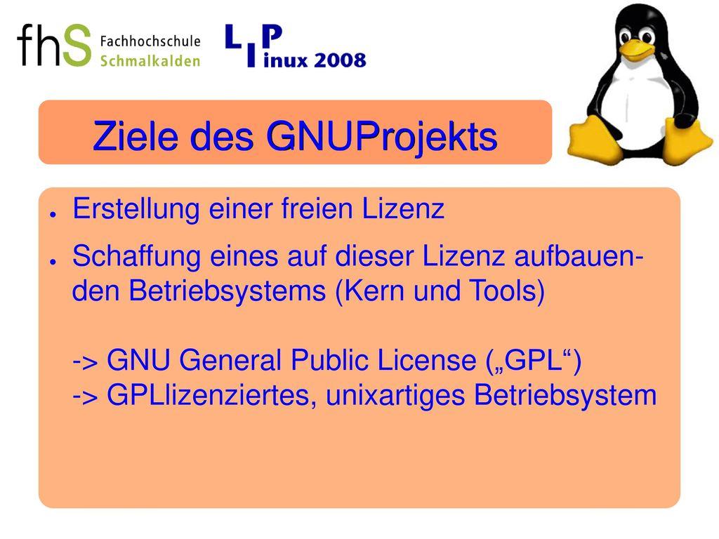 Ziele des GNUProjekts