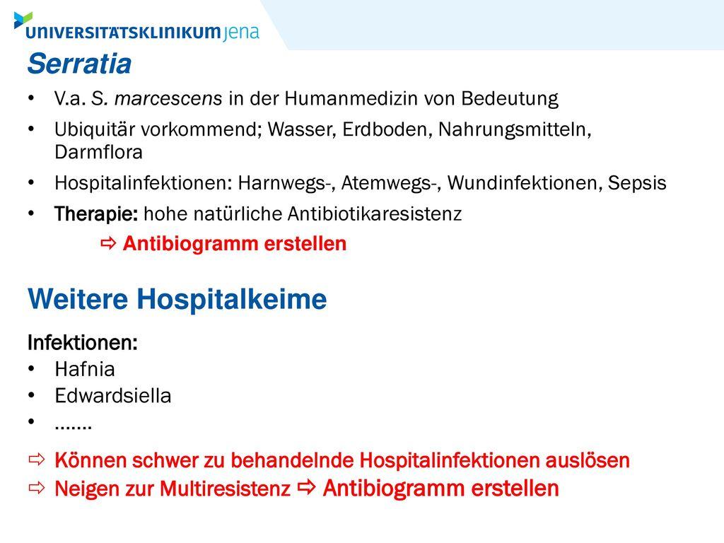 Weitere Hospitalkeime