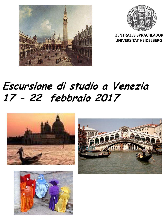 Escursione di studio a Venezia 17 - 22 febbraio 2017