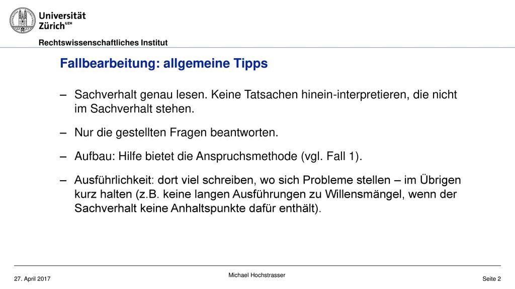 Fallbearbeitung: allgemeine Tipps