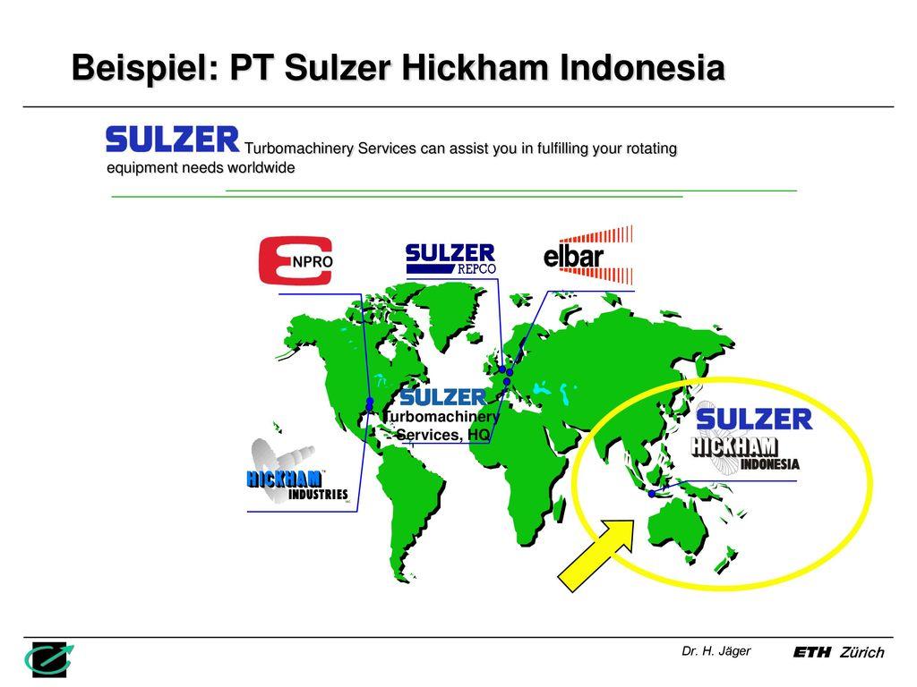 Beispiel: PT Sulzer Hickham Indonesia