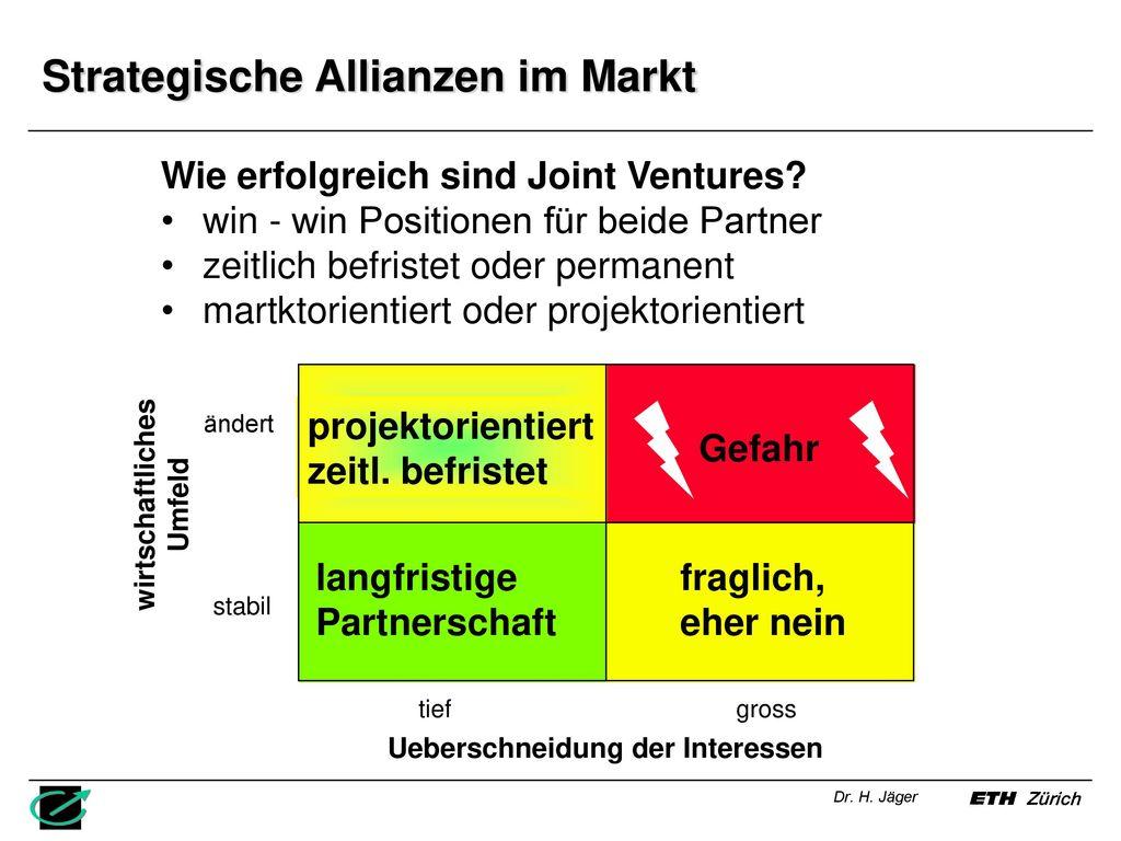 Strategische Allianzen im Markt