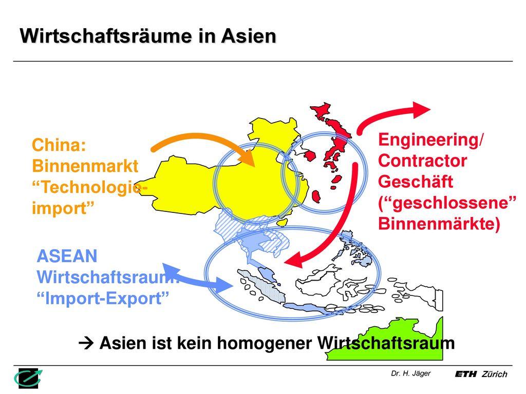 Wirtschaftsräume in Asien