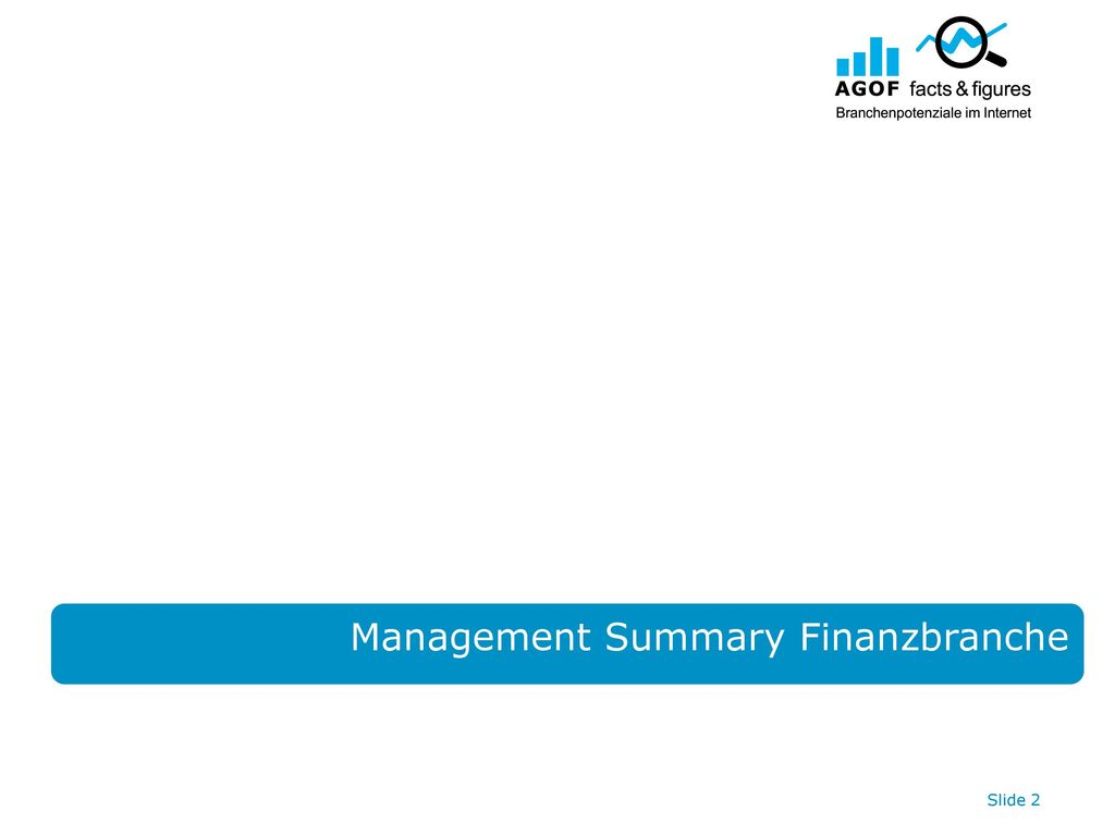 Management Summary Finanzbranche