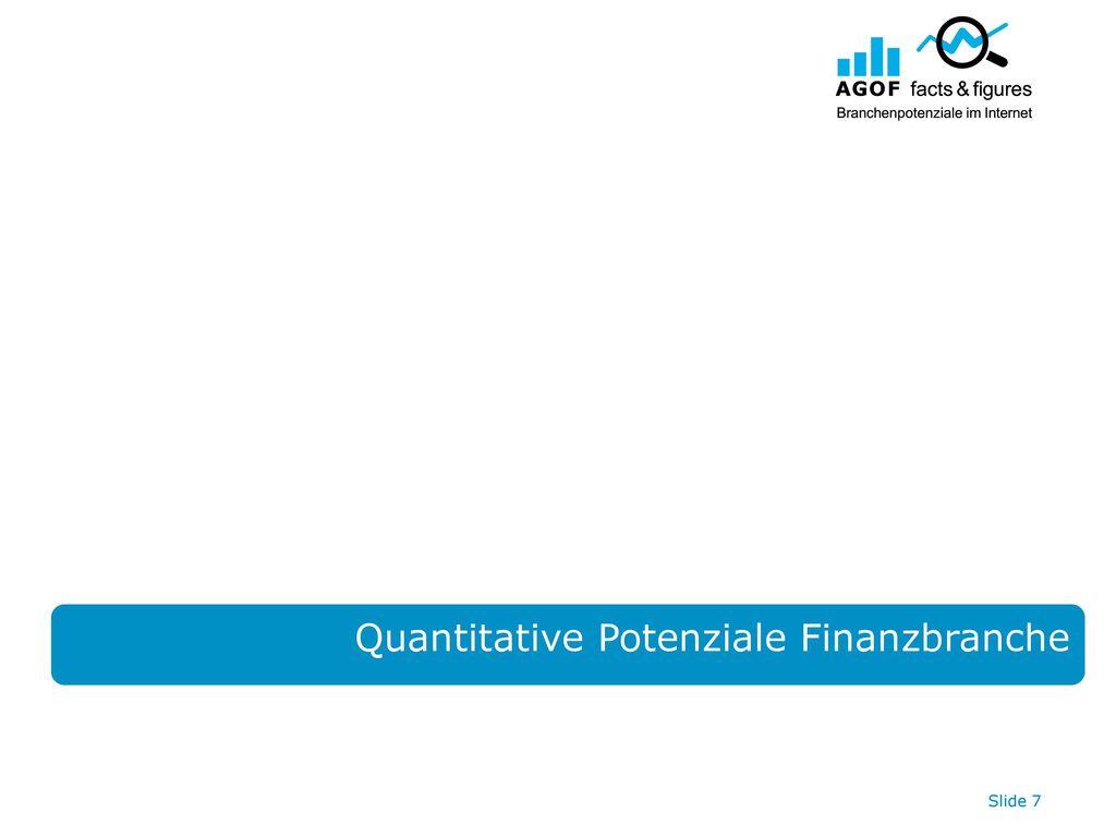 Quantitative Potenziale Finanzbranche