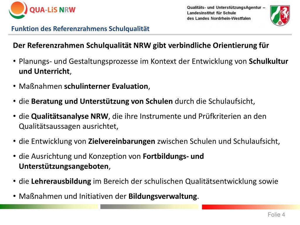 Maßnahmen schulinterner Evaluation,