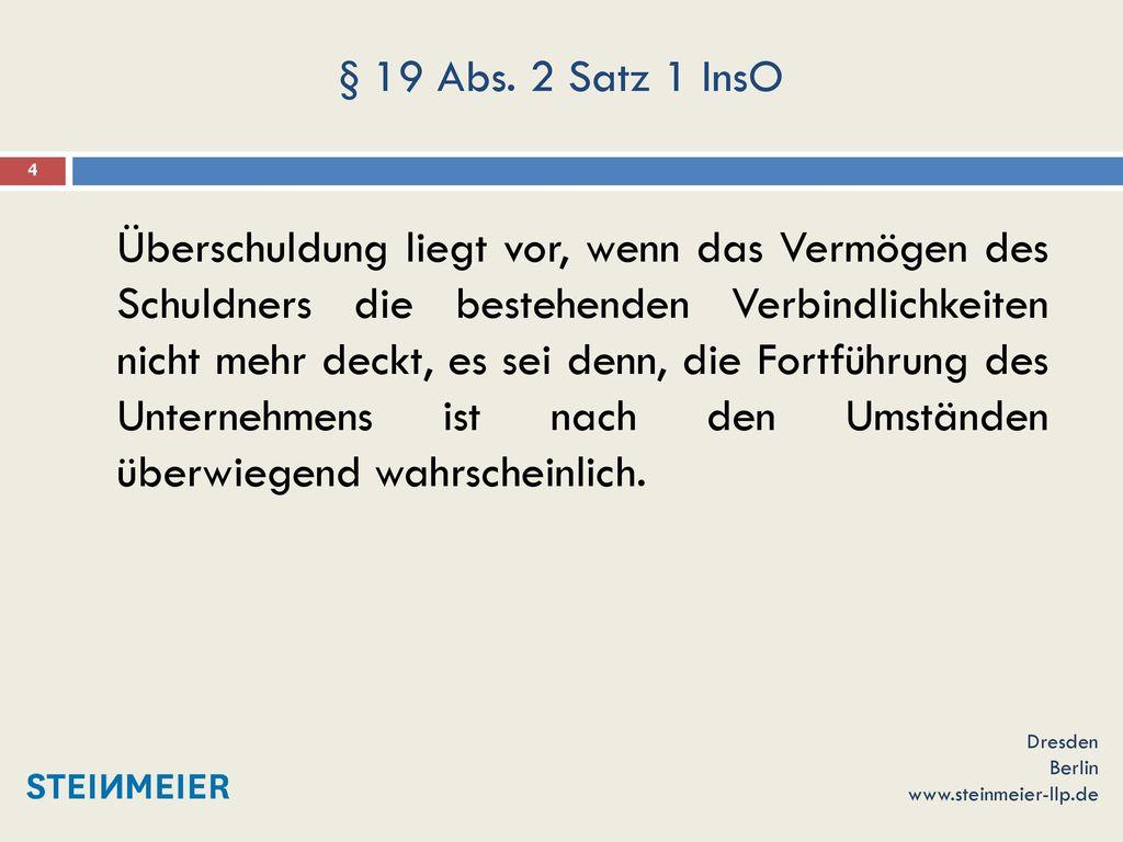 § 19 Abs. 2 Satz 1 InsO