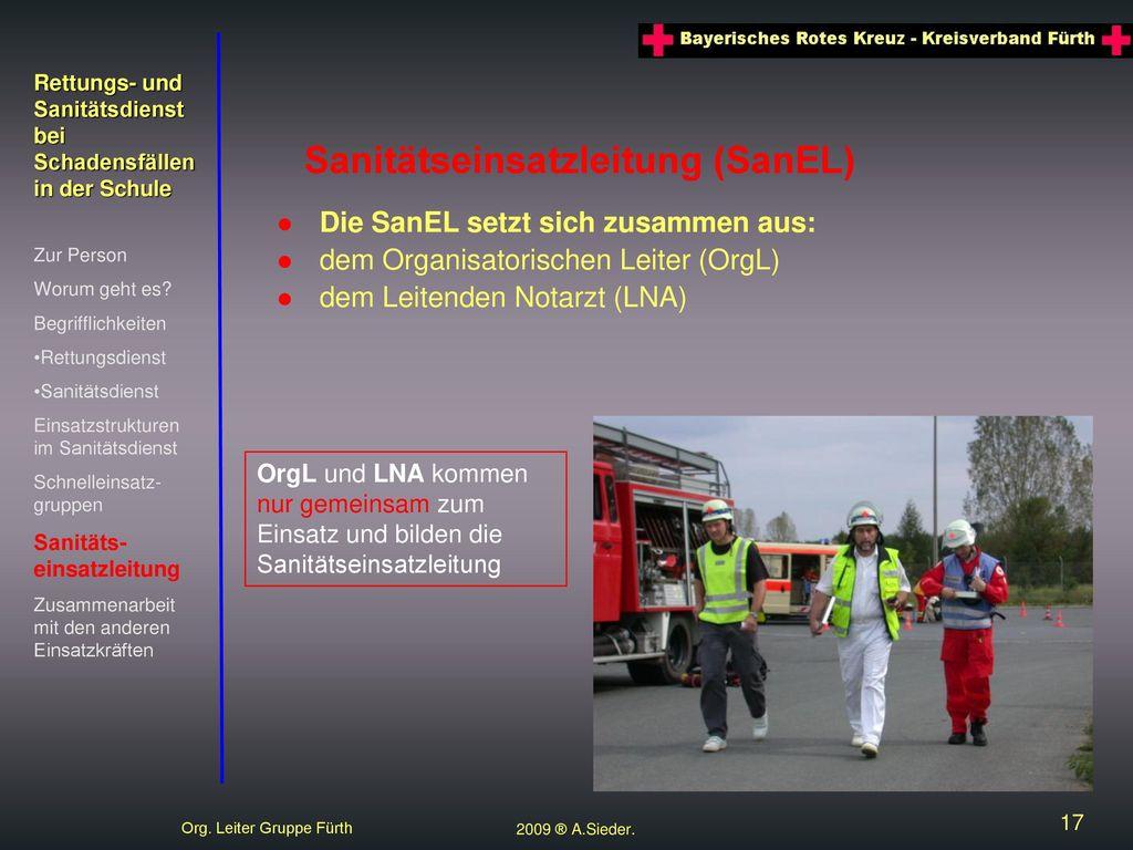 Rettungs- und Sanitätsdienst bei Schadensfällen in der Schule