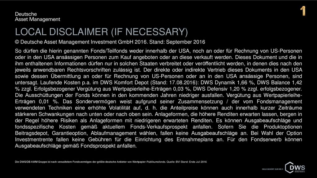 Local disclaimer (if necessary)