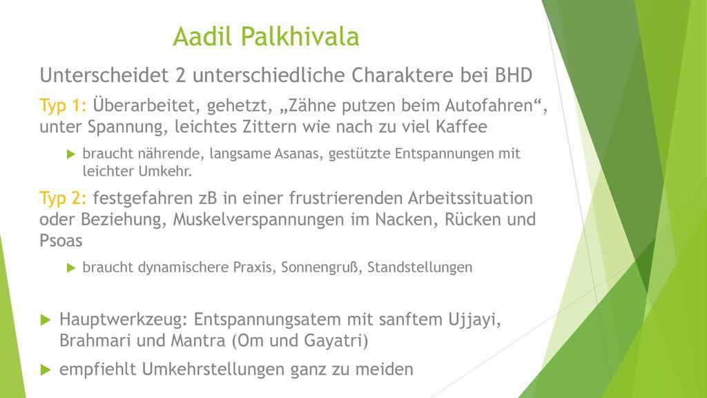 Aadil Palkhivala Unterscheidet 2 unterschiedliche Charaktere bei BHD