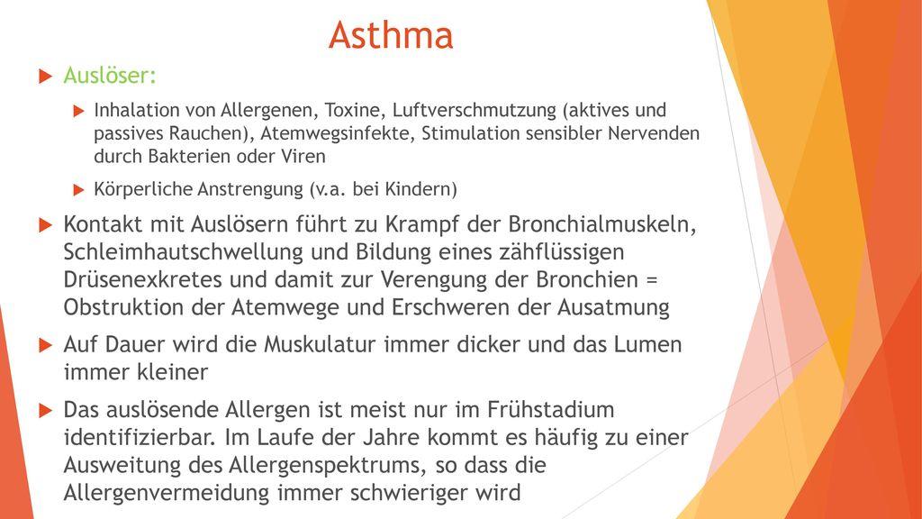 Asthma Auslöser: