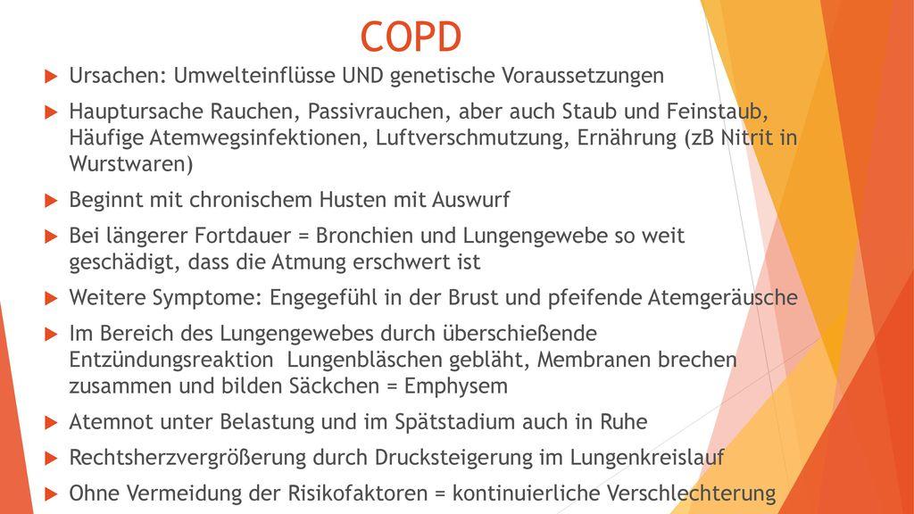 COPD Ursachen: Umwelteinflüsse UND genetische Voraussetzungen