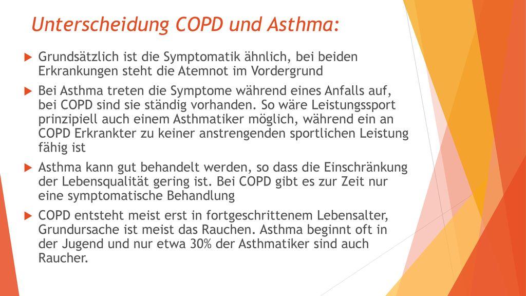 Unterscheidung COPD und Asthma: