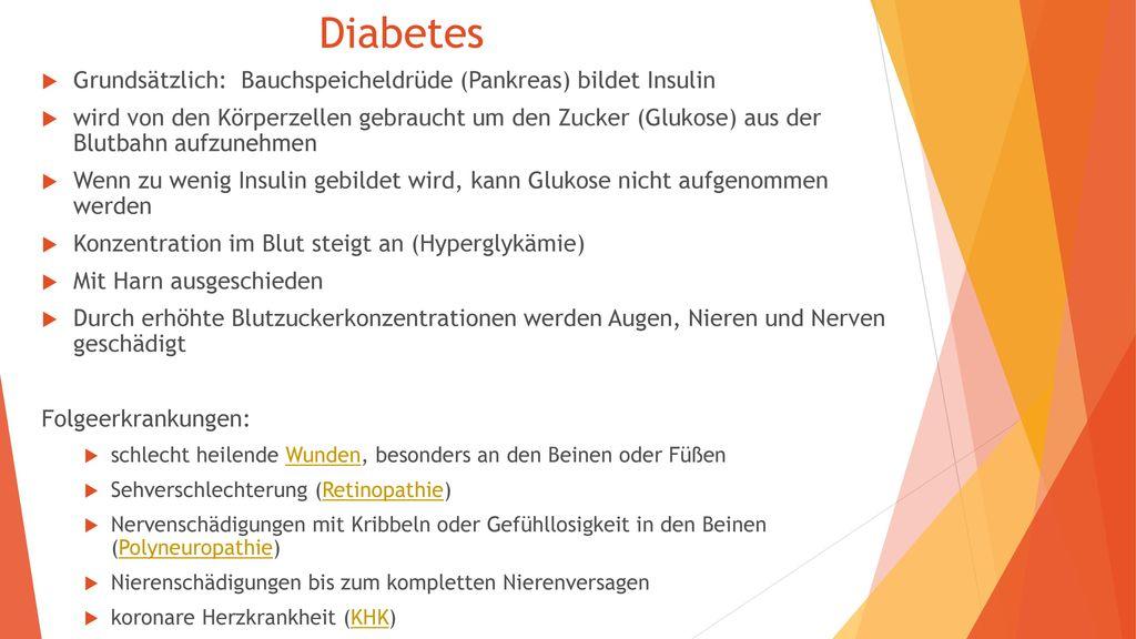 Diabetes Grundsätzlich: Bauchspeicheldrüde (Pankreas) bildet Insulin